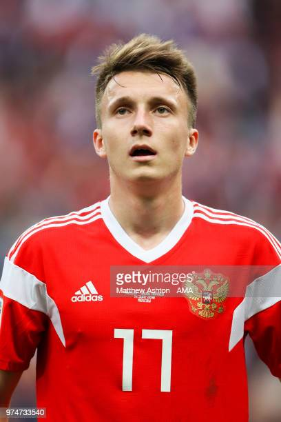 Aleksandr Golovin of Russia in action during the 2018 FIFA World Cup Russia group A match between Russia and Saudi Arabia at Luzhniki Stadium on June...