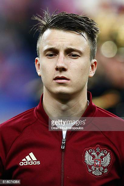 Aleksandr Golovin of Russia looks on prior to the International Friendly match between France and Russia held at Stade de France on March 29 2016 in...