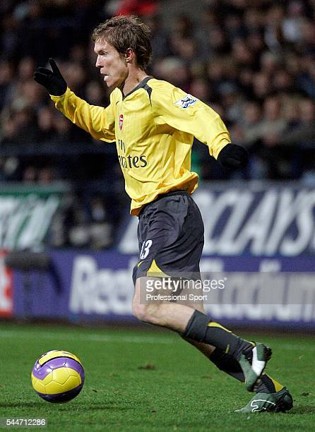 Aleksandr Hleb of Arsenal in action during the FA Premier League match between Bolton Wanderers and Arsenal at the Reebok Stadium in Bolton on the...