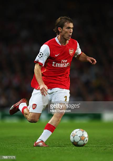 Aleksandr Hleb of Arsenal in action during the UEFA Champions League Group H match between Arsenal and Sevilla at the Emirates Stadium on September...