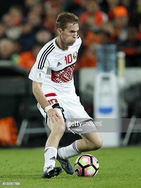 Aleksandr Hleb of Belarusduring the FIFA World Cup 2018 qualifying match between Netherlands and Belarus at the Kuip on October 07 2016 in Rotterdam...