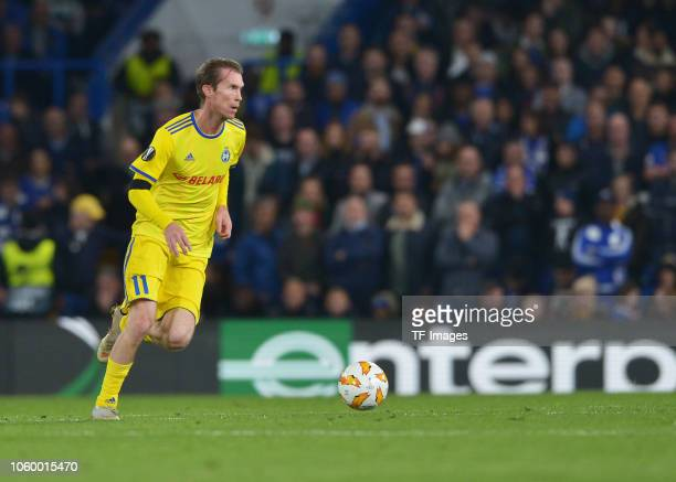 Aleksandr Hleb of FC BATE Borisov controls the ball during the UEFA Europa League Group L match between Chelsea and FC BATE Borisov at Stamford...