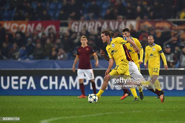 Aleksandr Hleb of FC BATE Borisov in action during the UEFA Champions League Group E match between AS Roma and FC BATE Borisov at Stadio Olimpico on...