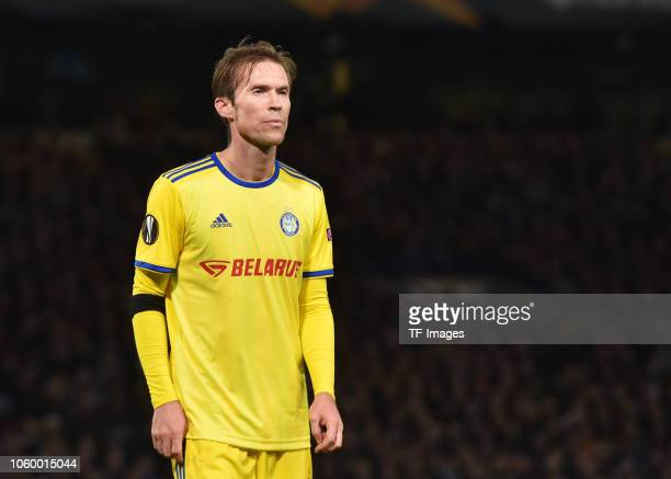 Aleksandr Hleb of FC BATE Borisov looks on during the UEFA Europa League Group L match between Chelsea and FC BATE Borisov at Stamford Bridge on...