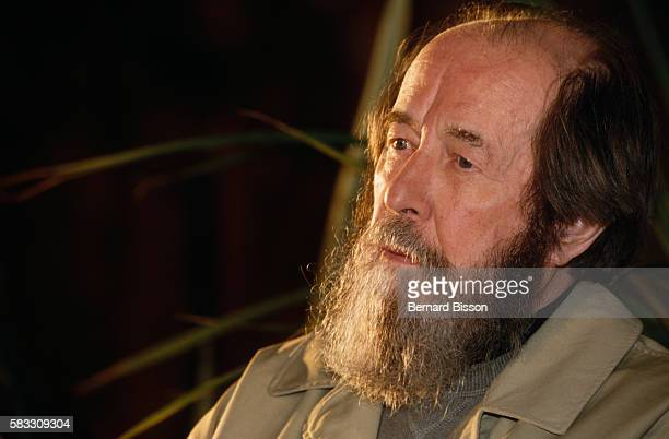 Aleksandr Isayevich Solzhenitsyn Soviet dissident and writer visits Vendee Department He wrote The Gulag Archipelago in which he detailed Soviet...