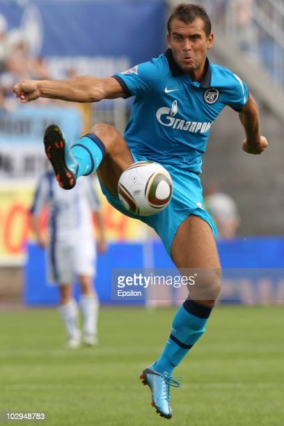 Aleksandr Kerzhakov of FC Zenit St Petersburg during the Russian Football League Championship match between FC Zenit St Petersburg and FC Sibir...