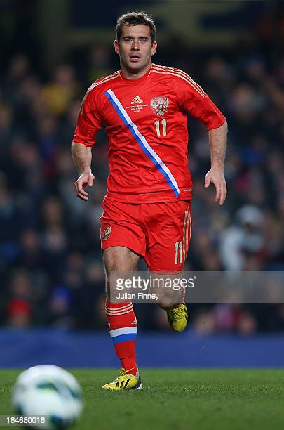 Aleksandr Kerzhakov of Russia during the International Friendly match between Russia and Brazil at Stamford Bridge on March 25 2013 in London England