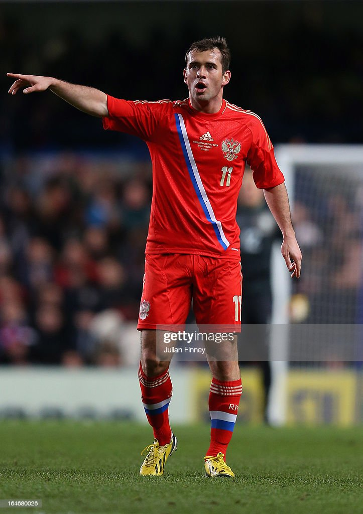 Aleksandr Kerzhakov of Russia during the International Friendly match between Russia and Brazil at Stamford Bridge on March 25, 2013 in London, England.