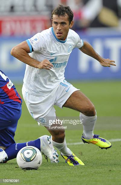 Aleksandr Kerzhakov of Zenit St Petersburg in action during the Russian Football League Championship match between FC CSKA Moscow and FC Zenit...