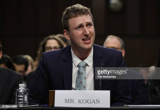 Aleksandr Kogan the developer of the app that allowed Cambridge Analytica to collect personal details of 80 million Facebook users testifies before...