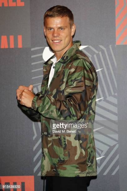 Aleksandr Kokorin attends in celebration of the 20th anniversary of Nike's most iconic football boot some of the world's best footballers arrive in...