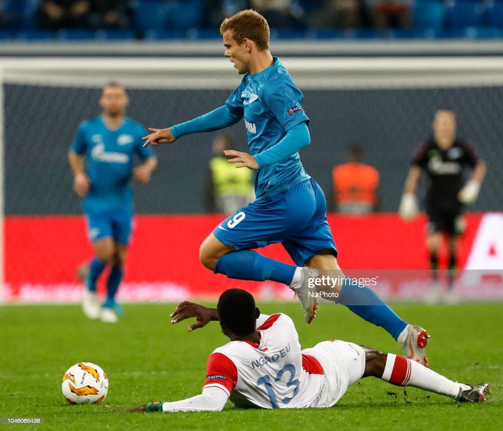 Zenit Saint Petersburg v Slavia Prague - UEFA Europa League: Group C : News Photo
