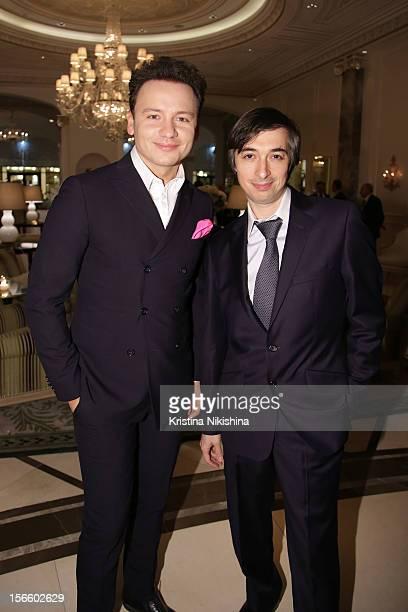 Aleksandr Oleshko and Rovshan Askerov arrive at the launch of the Four Seasons Hotel Baku on November 17 2012 in Baku Azerbaijan