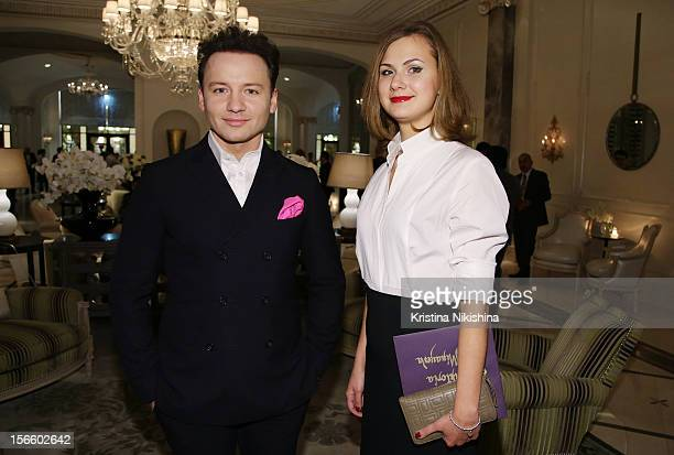 Aleksandr Oleshko with wife arrive at the launch of the Four Seasons Hotel Baku on November 17 2012 in Baku Azerbaijan