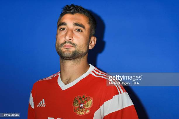 Aleksandr Samedov during the official FIFA World Cup 2018 portrait session at on June 8 2018 in Moscow Russia