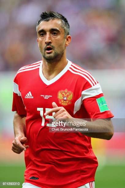 Aleksandr Samedov of Russia in action during the 2018 FIFA World Cup Russia group A match between Russia and Saudi Arabia at Luzhniki Stadium on June...