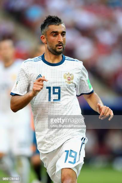 Aleksandr Samedov of Russia in action during the 2018 FIFA World Cup Russia Round of 16 match between Spain and Russia at Luzhniki Stadium on July 1...