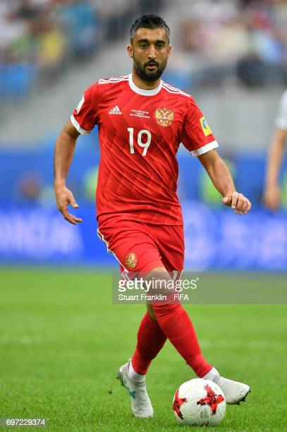 Aleksandr Samedov of Russia in action during the FIFA Confederations Cup Group A match between Russia and New Zealand at Saint Petersburg Stadium on...