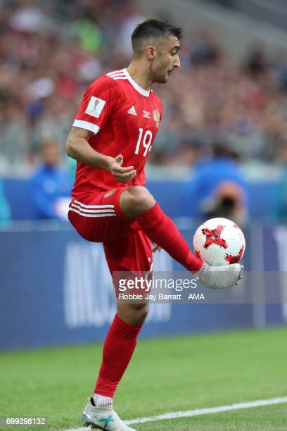 Aleksandr Samedov of Russia in action during the FIFA Confederations Cup Russia 2017 Group A match between Russia and Portugal at Spartak Stadium on...