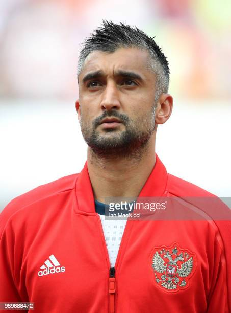 Aleksandr Samedov of Russia is seen during the 2018 FIFA World Cup Russia Round of 16 match between Spain and Russia at Luzhniki Stadium on July 1...