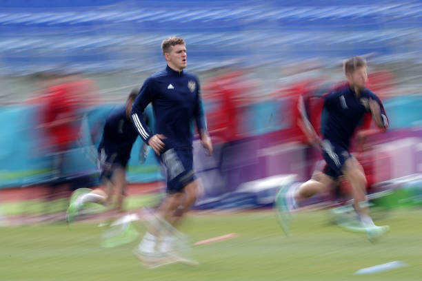 RUS: Russia Training Session and Press Conference - UEFA Euro 2020: Group B