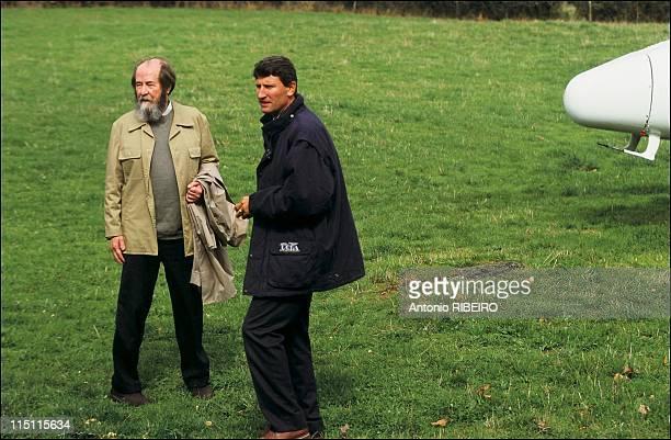 Aleksandr Solzhenistsyn in Vendee France on September 26 1993 Aleksandr Solzhenistsyn with Philippe de Villiers