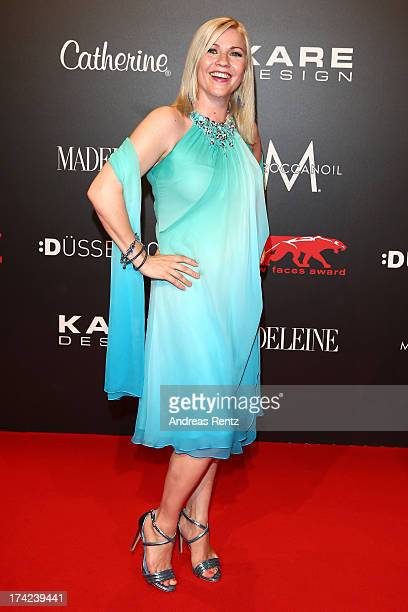 Aleksandra Bechtel attends KARE Design at the New Faces Award Fashion 2013 at Rheinterrasse on July 22 2013 in Duesseldorf Germany
