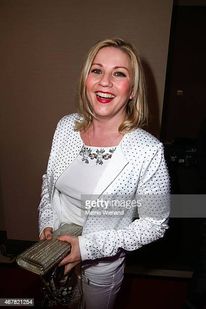 Aleksandra Bechtel attends the Gloria Deutscher Kosmetikpreis 2015 at Hilton Hotel on March 27 2015 in Duesseldorf Germany