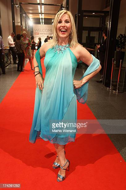 Aleksandra Bechtel attends the New Faces Award Fashion 2013 at Rheinterrasse on July 22 2013 in Duesseldorf Germany