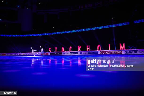 Aleksandra Boikova and Dmitrii Kozlovskii of FSR perform in the Gala Exhibition during day five of the ISU World Figure Skating Championships at...