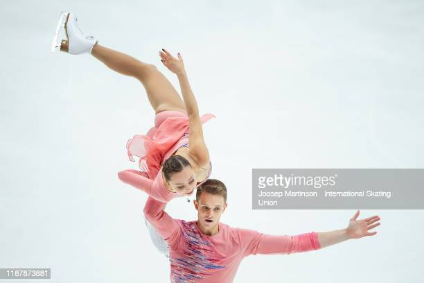 Aleksandra Boikova and Dmitrii Kozlovskii of Russia compete in the Pairs Short Program during day 1 of the ISU Grand Prix of Figure Skating...
