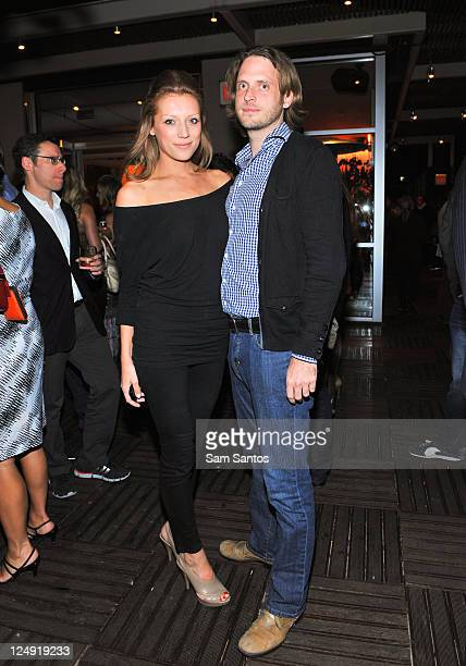 Aleksandra Jassem and Aiden Butler attend the Joe Fresh and Interview Magazine celebration of the world Premiere 'Like Crazy' at the Spoke Club...