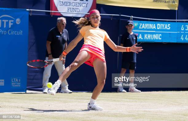 Aleksandra Krunic of Russia during her womens final match on June 18 2017 in manchester England