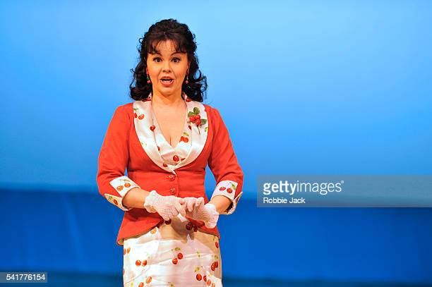 Aleksandra Kurzak as Fiorilla in the Royal Opera's production of Gioachino Rossini's Il Turco in Italia directed by Moshe Leiser and Patrice Caurier...