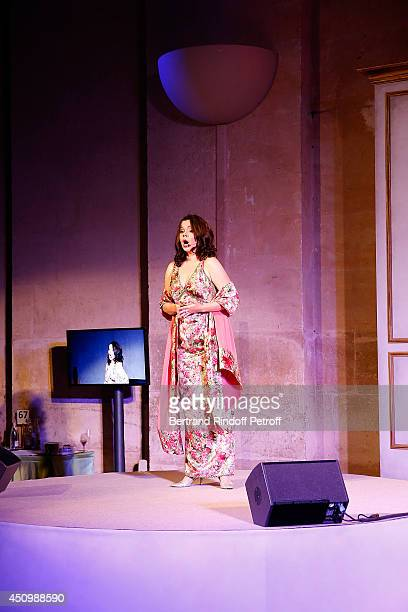 Aleksandra Kurzak performs during the L'Oreal Gala Evening 2014 at Chateau de Versailles on June 20 2014 in Versailles France