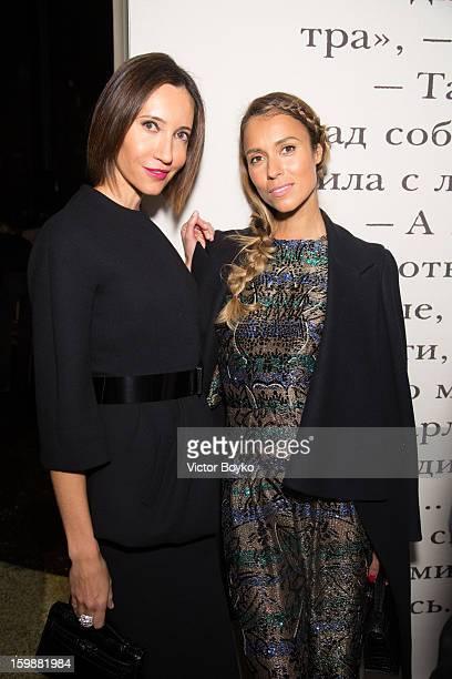 Aleksandra Melnichenko attend the Ulyana Sergeenko Spring/Summer 2013 HauteCouture show as part of Paris Fashion Week at Theatre Marigny on January...