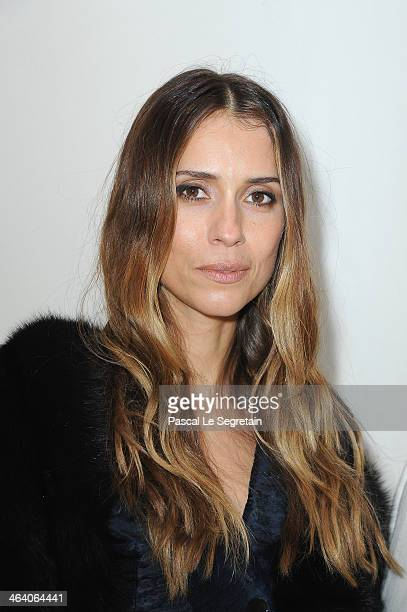 Aleksandra Melnichenko attends the Christian Dior show as part of Paris Fashion Week Haute Couture Spring/Summer 2014 on January 20 2014 in Paris...