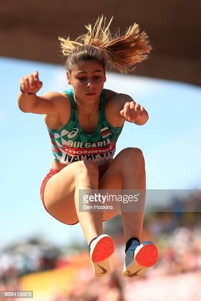Aleksandra Nacheva of Bulgaria in action during the final of the women's triple jump on day six of The IAAF World U20 Championships on July 15 2018...