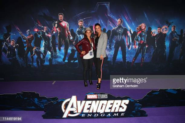 Aleksandra poses ahead of the special screening of Marvel Studios' Avengers Endgame at IMAX Melbourne Museum on April 23 2019 in Melbourne Australia