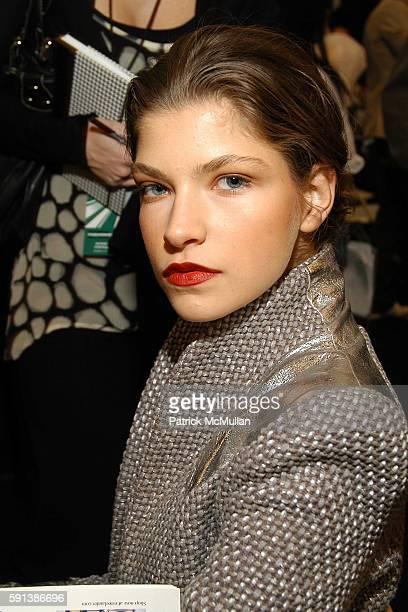 Aleksandra Rascovic attends Esteban Cortazar Fall 2005 Fashion Show at The Plaza at Bryant Park on February 6 2005 in New York City