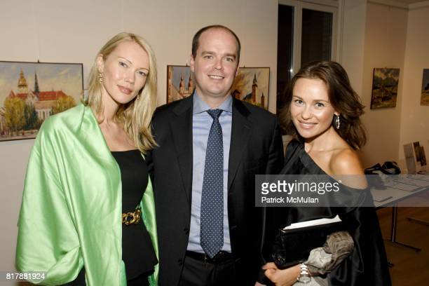Aleksandra Slowinska Scott Craigg and Beata Bohman attend Power Of Muze Concerts Integration For Peace at Bohemian National Hall on September 23 2010...