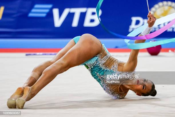 Aleksandra Soldatova of Russia during Individual AllAround Final at the Arena Armeec in Sofia at the 36th FIG Rhythmic Gymnastics World...