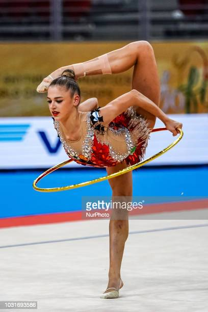 Aleksandra Soldatova of Russia during Rhythmic Gymnastics World Championships at the Arena Armeec in Sofia at the 36th FIG Rhythmic Gymnastics World...