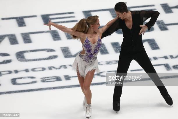 Aleksandra Stepanova and Ivan Bukin perform a short program in ice dancing at the Russian Figure Skating Championship in St Petersburg