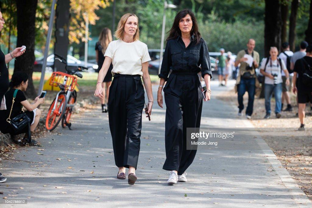 Aleksandra Woroniecka And Emanuelle Alt Of Vogue Paris Before
