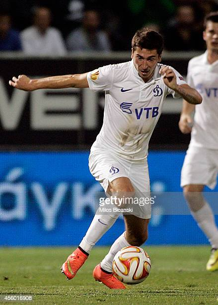 Aleksei Ionov of FC Dinamo Moskva in action during the UEFA Europa League match between between Panathinaikos FC and FC Dinamo Moskva on September...