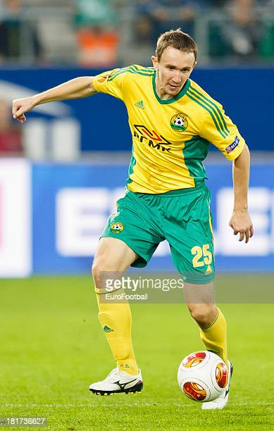 Aleksei Kozlov of FC Kuban Krasnodar in action during the UEFA Europa League group stage match between FC St Gallen and FC Kuban Krasnodar held on...