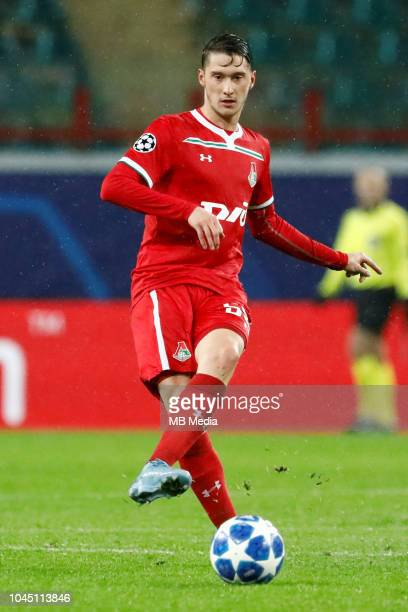 Aleksei Miranchuk of FC Lokomotiv Moscow in action during the Group D match of the UEFA Champions League between FC Lokomotiv Moscow and FC Schalke...