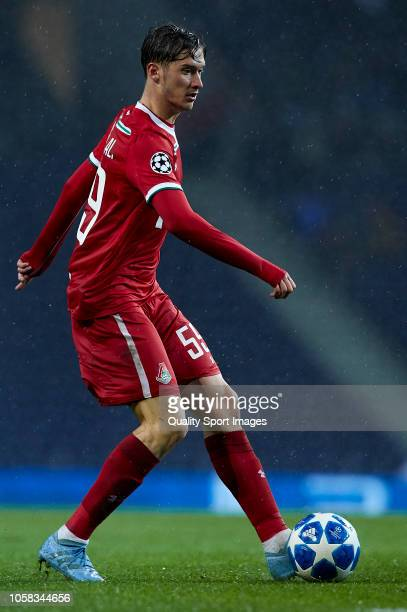 Aleksei Miranchuk of Lokomotiv controls the ball during the Group D match of the UEFA Champions League between FC Porto and FC Lokomotiv Moscow at...