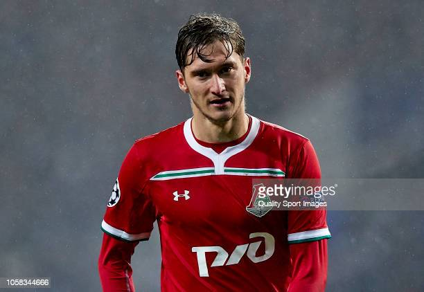 Aleksei Miranchuk of Lokomotiv looks on during the Group D match of the UEFA Champions League between FC Porto and FC Lokomotiv Moscow at Estadio do...